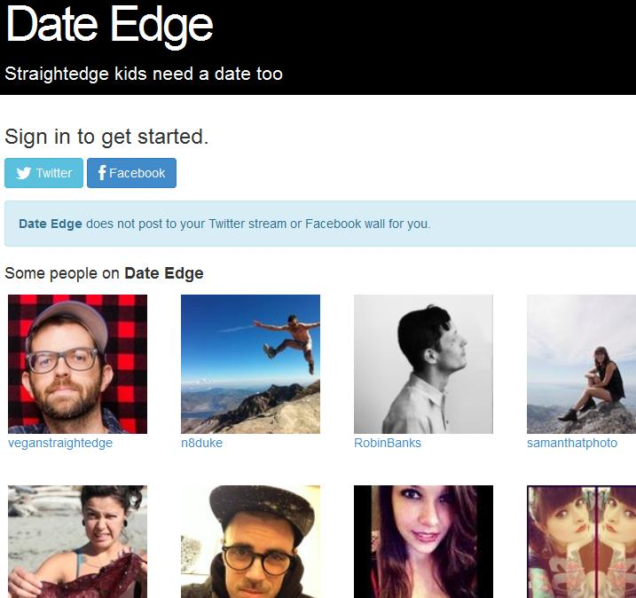 dating site for straight edge