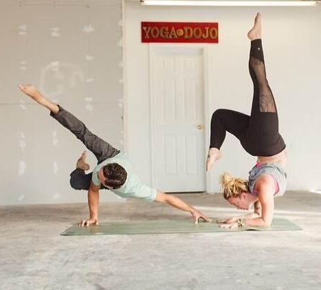 """two yoga teachers will """"get you there faster"""" when their"""