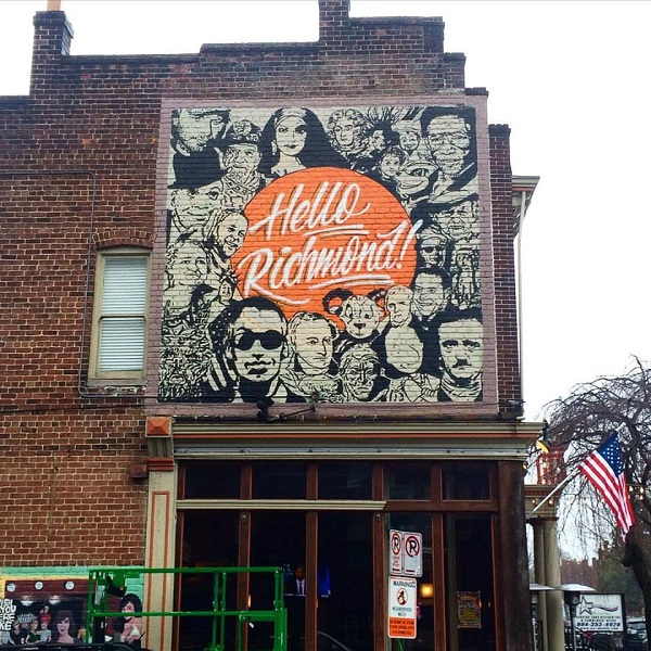 c57ddd511 Local tattoo artist collaborates with Fan bar owner to design 'Faces of  Richmond' mural