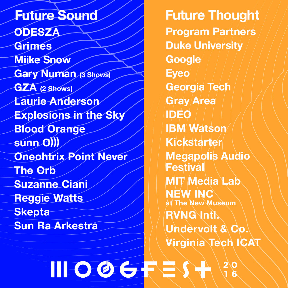 MoogFest 2016 final line up released and it is dope as hell | RVA Mag
