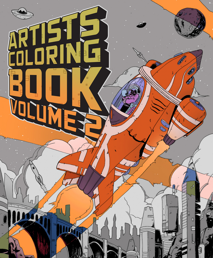 Local artist Chuck Scalin has revived his 2014 coloring book ...