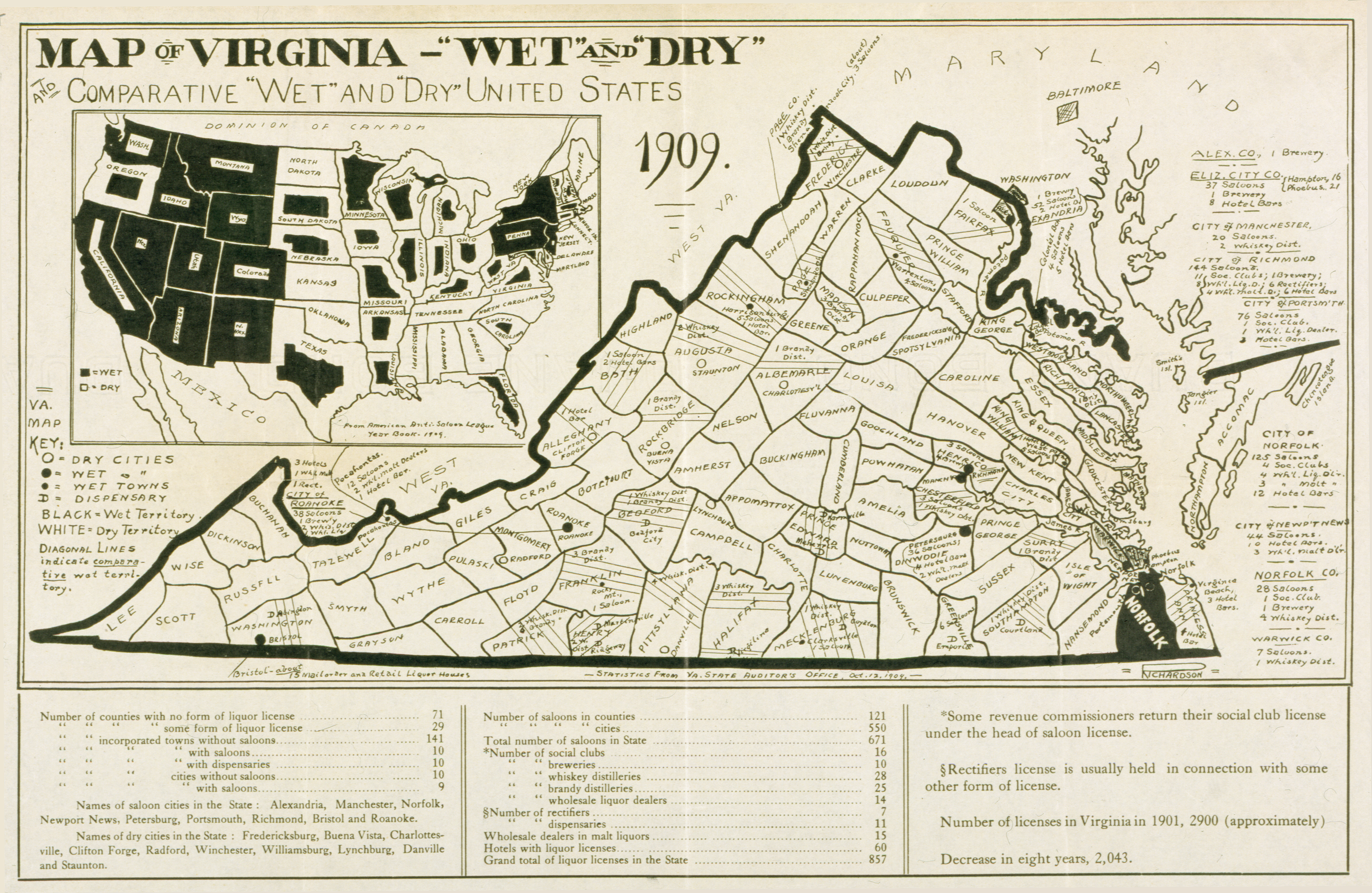 RVA MAG Richmond VA ARTGALLERYNEWS BOOTLEGGERS BANDITS - Map of the us in the prohibition