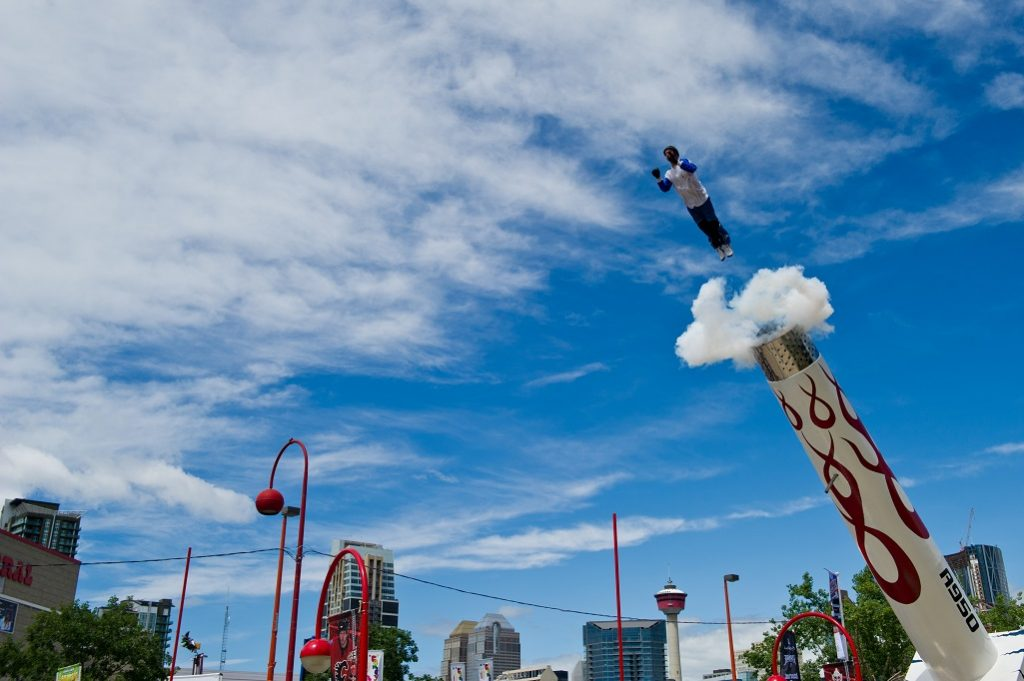 Human Cannonball Dave The Bullet Smith Hits The Diamond