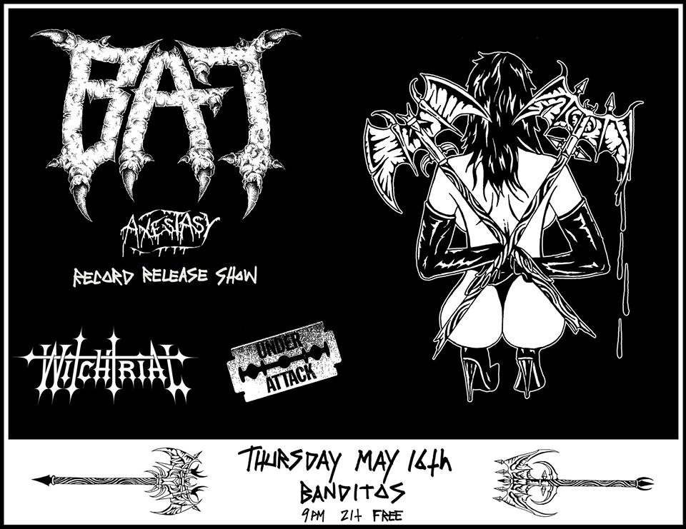 9d3620eac Thursday, May 16, 9 PM BAT, Witchtrial, Under Attack @ Bandito's – Free! If  you love metal, hardcore, and/or general headbanging madness, Bandito's is  the ...