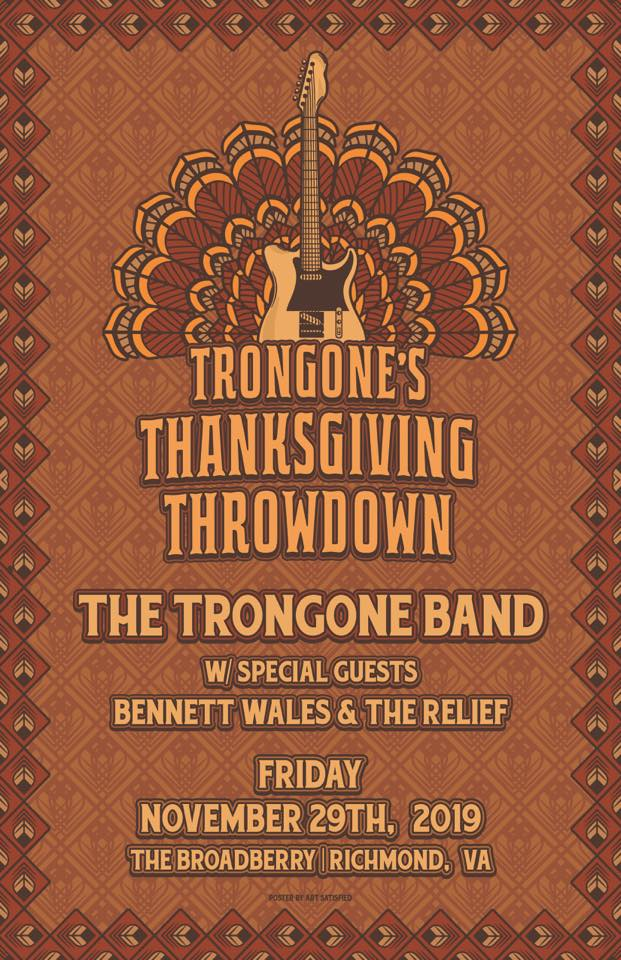 NOV 29 The Trongone Band *THANKSGIVING THROWDOWN* w/ Bennett Wales & The Relief