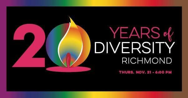 Diversity Richmond 20 year celebration flyer