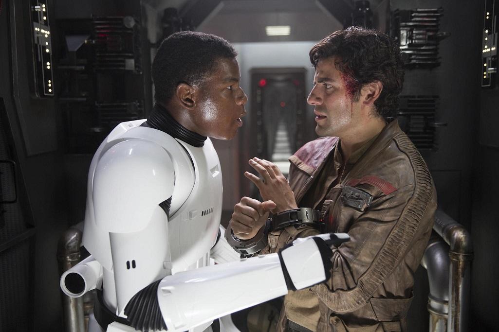 L to R: Finn (John Boyega) and Poe Dameron (Oscar Isaac),Star Wars: Episode VII - The Force Awakens (2015) © 2015 Lucasfilm